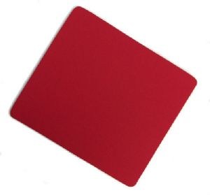 Red Mouse mat - 6mm Neoprene with Cloth Surface - Free Postage